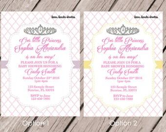 Princess BabyShower Invitation Printed