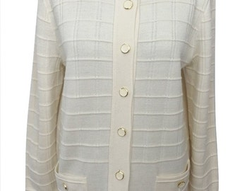 Vintage Cardigan by CANADA for C&A in Cream Size Medium - Excellent Condition - Free Postage