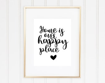 Home Is Our Happy Place, Home Print