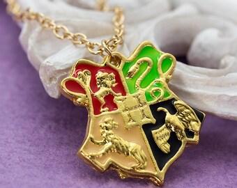 Hogwarts Crest Necklace