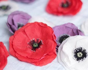 Pure Silk Poppies