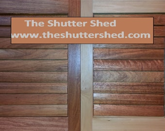 Plantation Shutters, Solid Wood, Unfinished Paint Grade