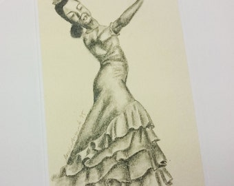 Greeting Card, Dancer, Drawing, Birthday, Get Well, Original