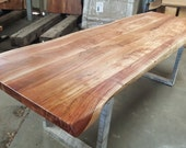 "94"" Acacia Wood Live Edge Table, Hand Crafted 036"