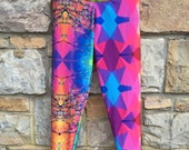High Waisted Printed Leggings - MIX MATCH LEG! (One off pieces)