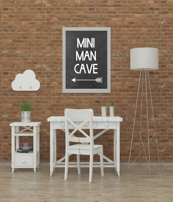 Mini Man Cave Utrecht : Boys roomplayroom print mini man cave by printshopstudio