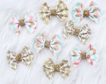 Mini Bows on Clips
