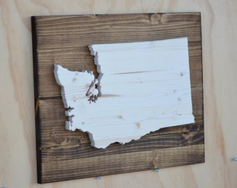 Washington State Wood Plaque Cutout