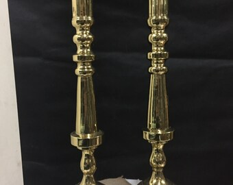 Extra Tall Vintage Brass Candlesticks