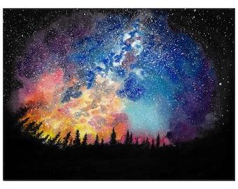 Milky Way  - Watercolor Print