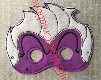Evil Mask, Sea Witch Mask, Evil Witch Mask,