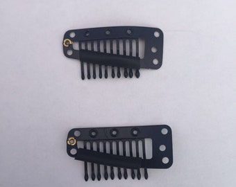 Metal Comb Snap Clip Black/Brown/Cream