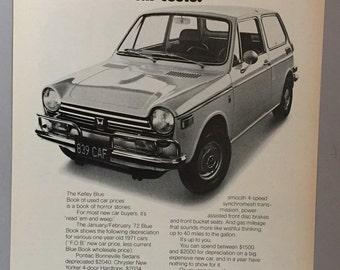 1972 Honda Sedan Print Ad