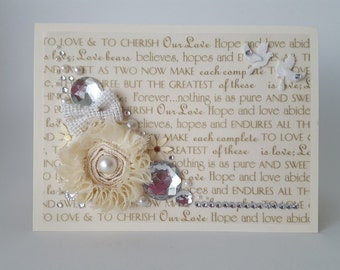 Jeweled Wedding Card