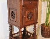French Antique Breton Night Stand Occasional End Table #4866
