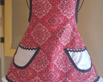 """Adorable """"Cowgirl Cutie"""" Girls cooking or activity apron. 100% cotton."""