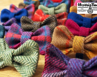 Harris Tweed Dog Bows - Bow Ties