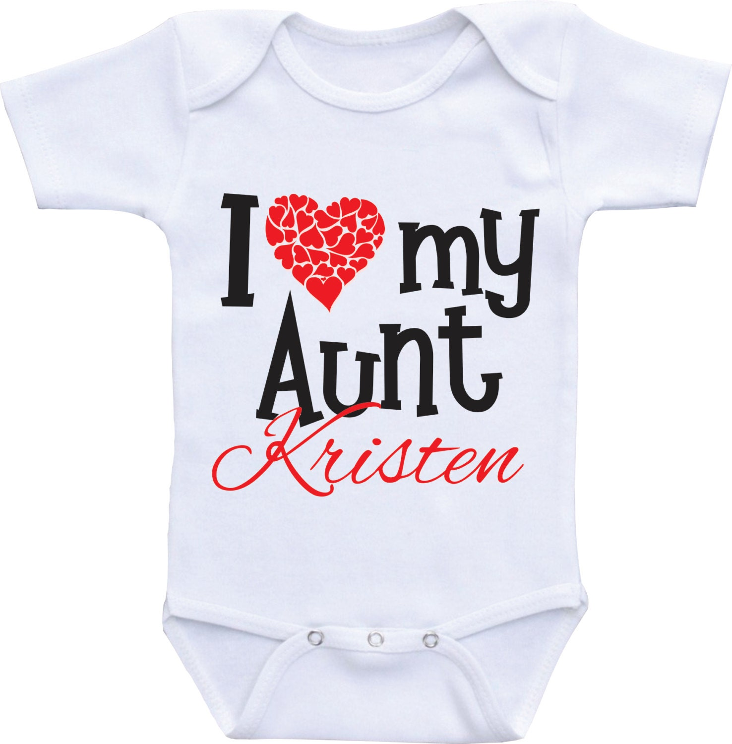 Personalized I love my aunt onesies aunt and niece onsie aunt and