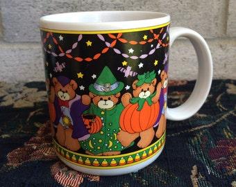 Vintage 1987 Lucy Rigg Enesco Halloween Coffee Mug