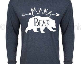 Mama Bear Hoodie - Mama  Hoodie - Mama Bear - Mama Bear Top - Matching Outfits - Gifts for Mom - Mama Bear Shirt - Woodland Outfit
