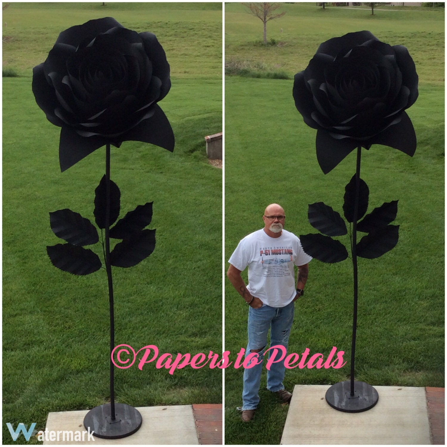 How to make large paper flower with stem diy giant paper rose how to make large paper flower with stem paper flower giant ft on stem view large mightylinksfo