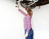 Hide-A-Ride Ceiling Bike Rack.  Easy and quick access.
