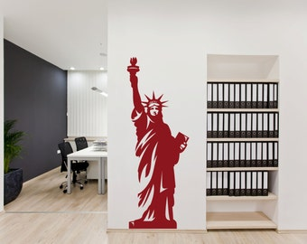 Statue Of Liberty Wall Vinyl New York Sticker Lady Liberty Wall Decal  Sticker