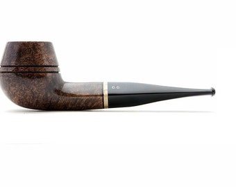 "Tobacco Smoking Pipe Briar. 9mm filter 5,71"" NEW Unsmoked Bulldog Brown pipe, extra extra Briar, ebonite stem, excellent quality + GIFT"
