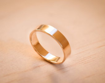 Solid Yellow Gold Wedding Band