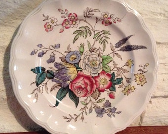 Copeland Spode/Great Britain/Gainsborough/Ornamental Floral Plate.
