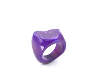 Size 8 Agate Ring