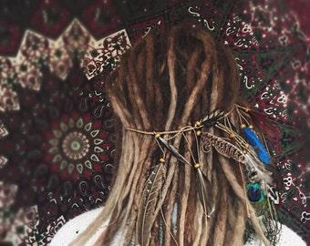 Bohemian Hippie Festival Feather Headband Headdress Hair Accessory