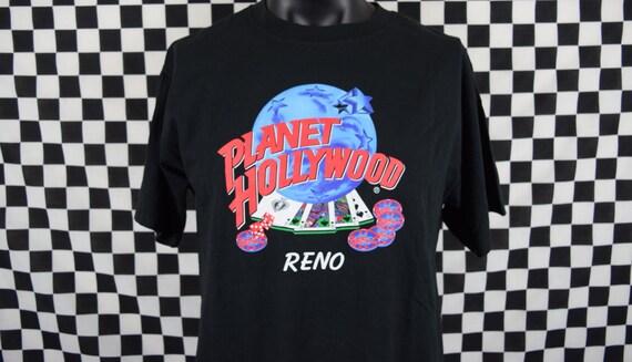 90s planet hollywood tshirt vintage reno planet hollywood for Planet hollywood t shirt