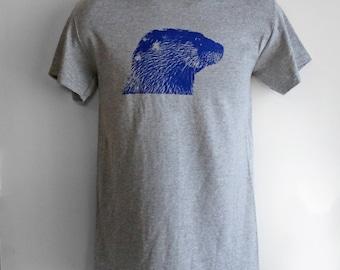 CLEARANCE! Otter Tee, River Otter Shirt, Unisex Mens Womens Apparel, Ryer