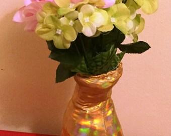 Gold Lame Stuffed Vase