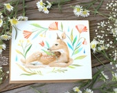 Fawn Blank Notecard | Stationery | Watercolor Painting | Greeting Card