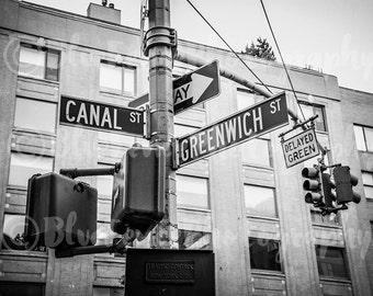Canal St & Greenwich St, Street Sign, New York City Photography, NY Print, NYC Art, Living Room Decor, Bedroom Art, Wall Decor