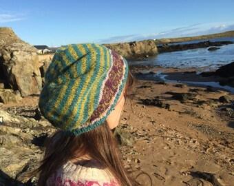 Owl and Stripe Beanie Hat