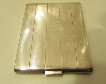 Antique Vintage Sterling Silver Cigarette Case