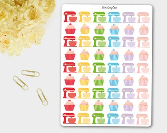 Baking Stickers, Planner Stickers, Cooking Stickers,  Kitchen Aid Stickers - Erin Condren Life Planner, Filofax