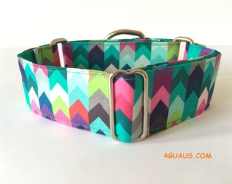 Martingale Dog Collar or Buckle Dog Collar Zig zag  colors, Collar martingale, Greyhound Collar, s, dog leash, colors - 4GUAUS.COM