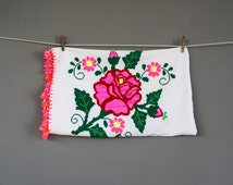 Hand Embroidered Mexican Pillow Cover Set of 2