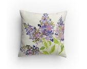 Lilac Throw Pillow, Decorative Throw Pillow, Home Decor, Cottage Chic