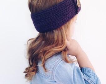 Vintage button headwrap for kids