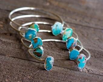 Turquoise Bangle Bracelet,Turquoise Cuff,Turquoise Bracelet,Turquoise Bangle,Stone Cuff,Gemstone cuff,Geode Bracelet ,Adustable Bangle,BOHO