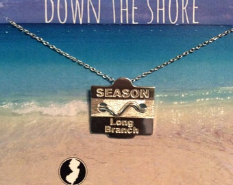 Long Branch - Jersey Shore Sterling Silver Beach Badge Necklace