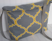 Crossbody Messenger Tote Bag Work Tote Bag Geometric Ladies Purse Teachers Gift