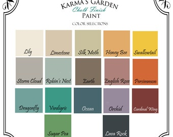 32 oz. size (1 Quart) - Choose any of our 17 colors! Karma's Garden Chalk Finish Paint -