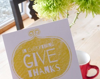 In everything give thanks - Bible verse greeting card