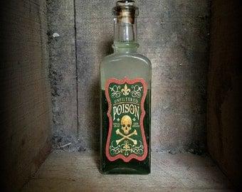 """Vintage Witches potion """"Poison"""" Halloween decor"""